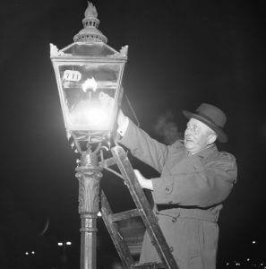 یک چراغ گازی در سوئد-1953